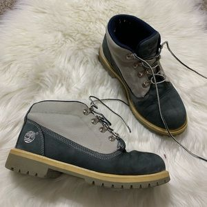 Timberland dusty blue and grey work boots size 7.5
